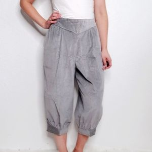 Vintage Gray Corduroy Cropped Paperboy Pants 159